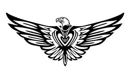 Eagle graphic, bird icon isolated Ilustracja