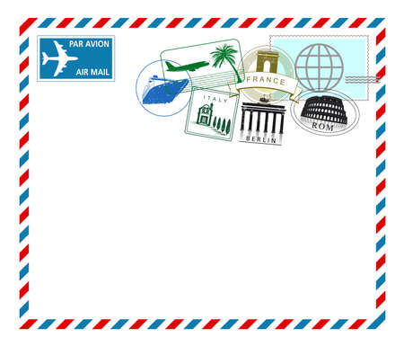 air mail from Europe trip