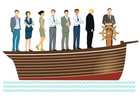 Leadership and teamwork - vector illustration Ilustracja