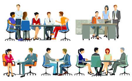 Business meetings and advice, team meetings Zdjęcie Seryjne - 163235086