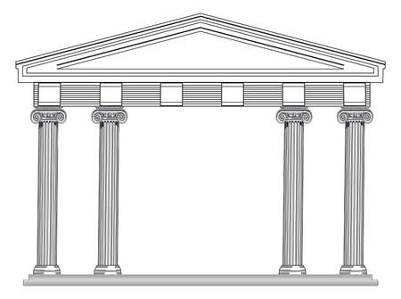 architectural columns, greek and roman classics - vector illustration Zdjęcie Seryjne - 164993644