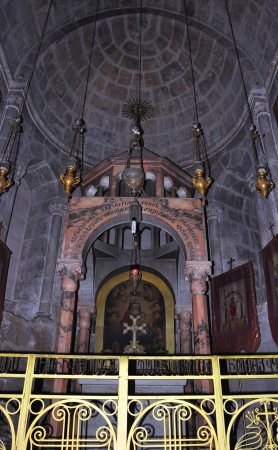 sepulcher: Interior of the church of the Holy sepulcher in Jerusalem, Israel
