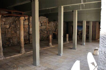 jerusalem archaeological underground ancient alley photo