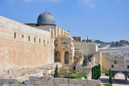 al aqsa: A Photo of Old City and Temple Mount in Jerusalem