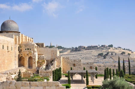 A Photo of Old City and Temple Mount in Jerusalem Stock Photo - 18519977