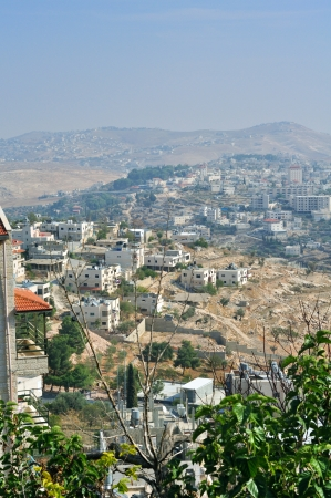 nazareth: Palestin. A panorama of the city of Bethlehem from height Stock Photo