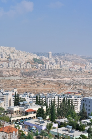 enmity: Palestin. A panorama of the city of Bethlehem from height Stock Photo