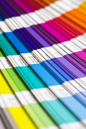 open Pantone sample colors catalogue photo