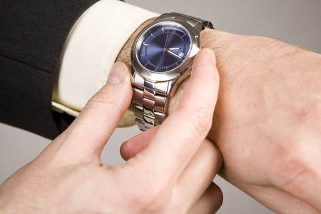 Hand ready to stop chronograph in a modern watch. Stock Photo - 10490711