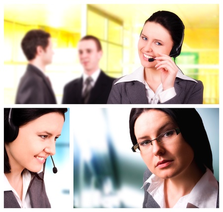 Conceptual image-grid of business photos Stock Photo - 10514874
