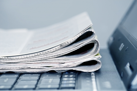 pile engine: newspapers on the laptop