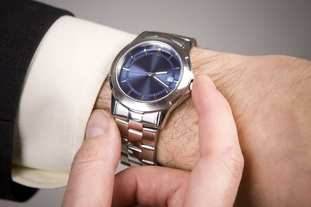Hand ready to stop chronograph in a modern watch. Stock Photo - 10679552