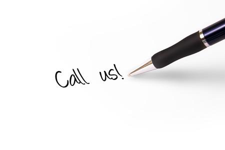 write us: Fountain pen writing call us!
