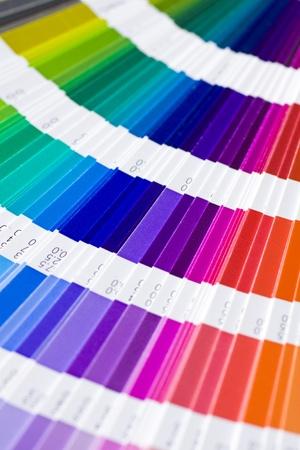 guide book: open Pantone sample colors catalogue