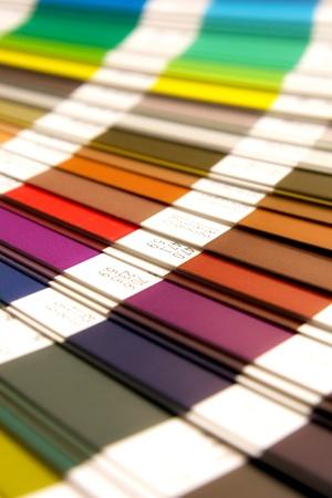 open Pantone sample colors catalogue Stock Photo - 10744358