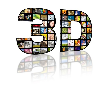 LCD TV panels. Television 3D production technology concept.  photo