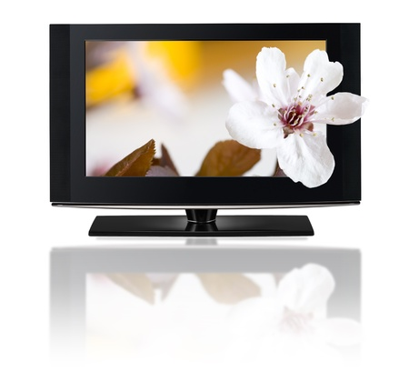 LCD TV panels. Television 3D production technology concept. Stock Photo - 10906020