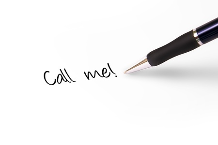 Fountain pen writing call me! photo