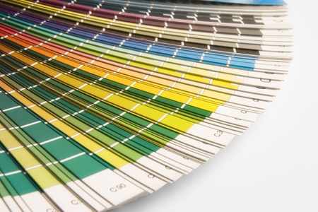 open CMYK sample colors catalogue photo