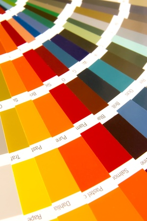 open RAL sample colors catalogue Stock Photo - 11157485