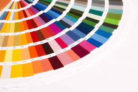 ouverte échantillon catalogue des couleurs RAL Banque d'images