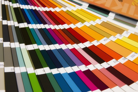 open RAL sample colors catalogue Stock Photo - 11929505