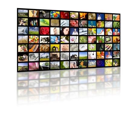 LCD-TV panelen. Televisie productietechnologie concept.