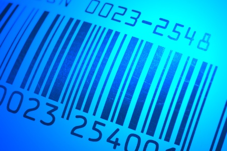 close up of bar code with macro lens  photo