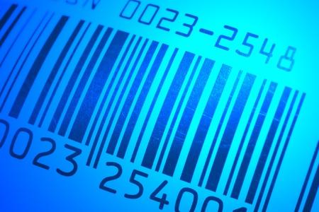 up code: close up of bar code with macro lens