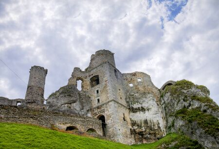 The old castle ruins of Ogrodzieniec fortifications, Poland. HDR image. Stock Photo - 12054941