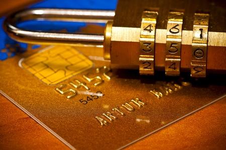 Credit Card Security. Padlock Stock Photo - 12054965