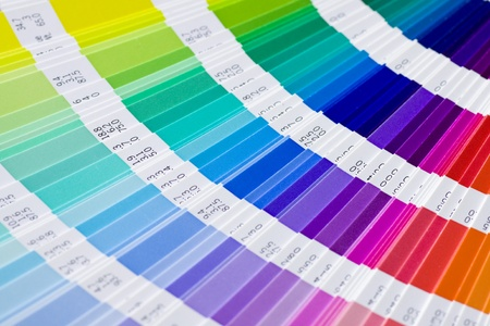 open Pantone sample colors catalogue Stock Photo - 12054896