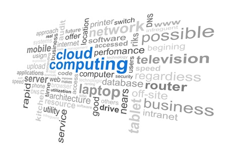 Cloud Computing Technology - Word Cloud Vector