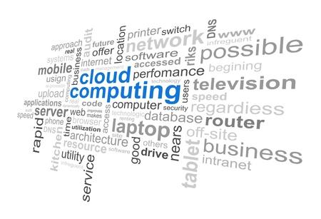 Nube de Tecnología Informática - Word Cloud Ilustración de vector
