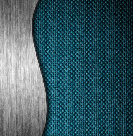 Texture metal and fabric material template background Stock Photo - 12601927