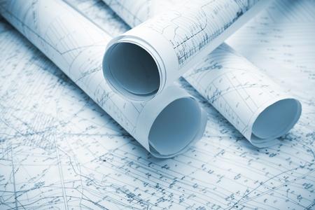 architecture blue plans photo