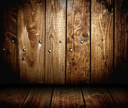 interior of wooden house. wood panel background texture Stock Photo - 12601943