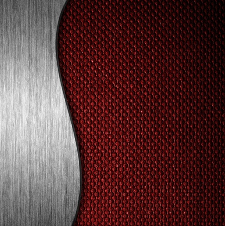 Texture metal and fabric material template background photo