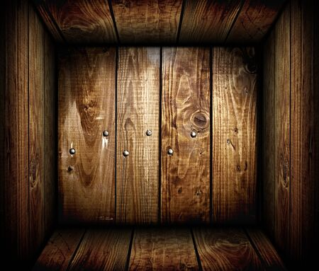 The inside of an empty wooden crate  Wood box Stock Photo - 12887277