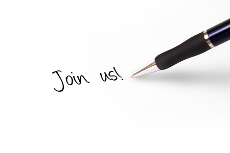 write us: Fountain pen writing join us