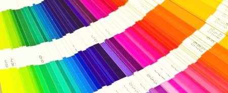 descriptive colors: Banner pantone sample colors catalogue