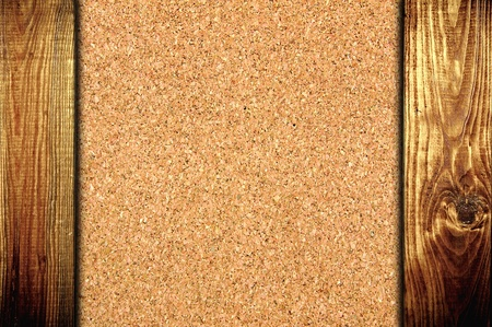 The cork board at wooden panel wall background  Stock Photo - 13023248