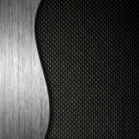 brushed aluminum: Texture metal and fabric material template background Stock Photo