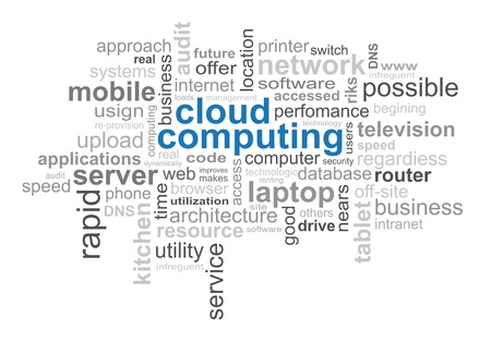 Cloud Computing Technology - Word Cloud photo