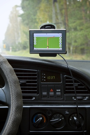 GPS Navigation system in a traveling car Stock Photo - 13158533
