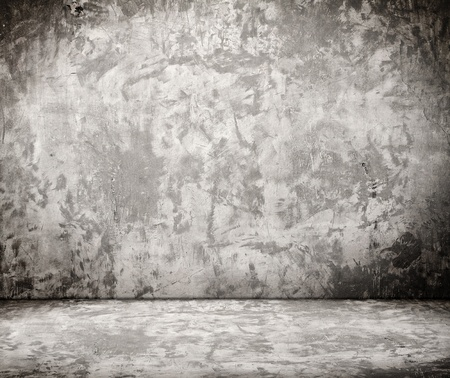 empty room with grunge concrete wall and cement floor Stock Photo - 13247295