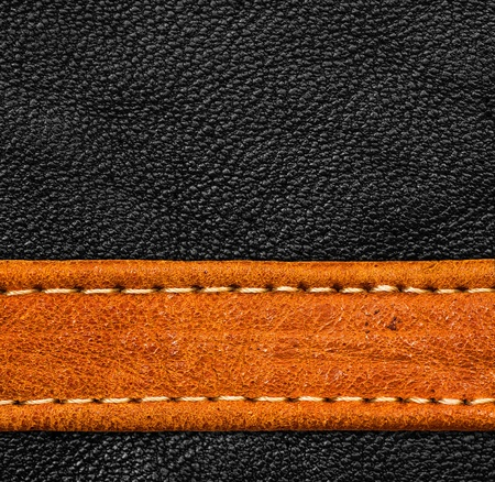 stitches: A brown and black leather texture  high resolution