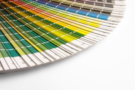 open CMYK sample colors catalogue photo