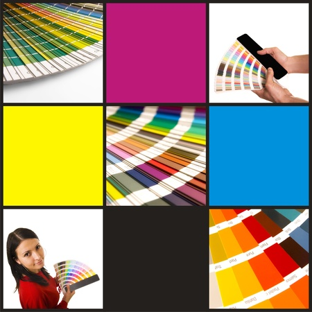 pantone and cmyk color in beautiful collage  photo
