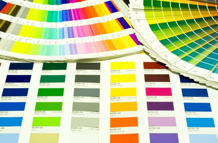 inkjet printer: Photo of Color Swatches pantone and cmyk